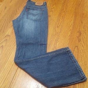 Levis bootcut low rise jeans